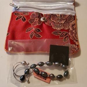 Jewelry - BEAUTIFUL STERLING SILVER PEARL BOLO BRACELET!